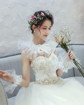 Lace collocation wedding shawl arm wedding dress