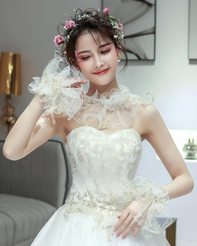 Lace Korean style gauze shawl summer bride wedding jacket