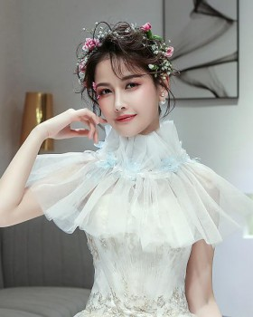 Wedding bride shawl white lace accessories for women