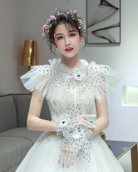 Wedding thin lace wedding dress bride summer shawl for women