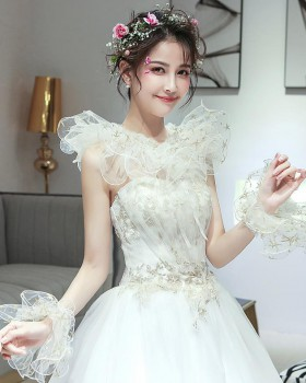 Lace bride white cloak Korean style summer wedding jacket