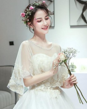 Cstand collar light wedding dress chiffon wedding accessories