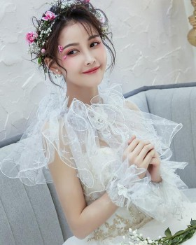 Chiffon light shawl bride wedding wedding dress