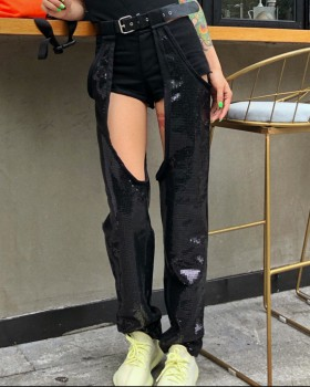 Summer loose casual pants sequins long pants