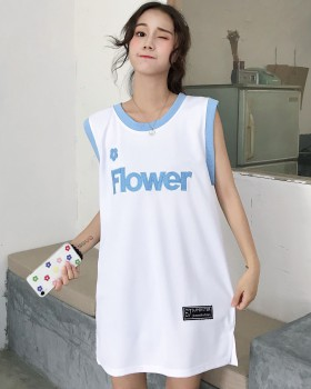 Sleeveless Japanese style vest loose Korean style T-shirt