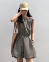 Casual summer jumpsuit slim loose shorts for women