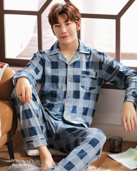 Pure cotton cotton large yard loose pajamas for men