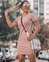 Tight summer European style mixed colors dress for women