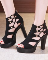 Summer high-heeled shoes thick crust sandals for women