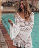 Sexy dress long sleeve beach dress for women