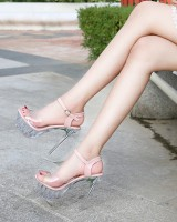 Summer sandals large yard high-heeled shoes