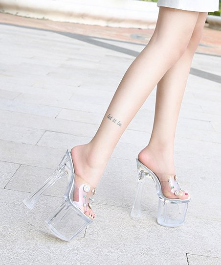 Crystal nightclub shoes fashion evening dress for women