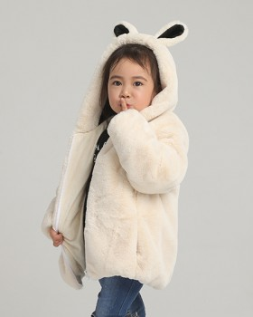 Child rabbit fur tops thick autumn and winter coat