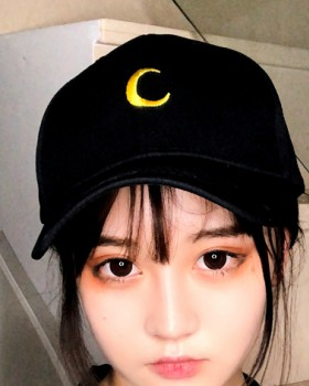 Crescent baseball cap embroidery peaked cap