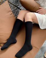 College style thin stovepipe black summer all-match socks
