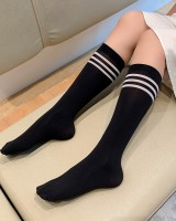Summer all-match college style black thin socks