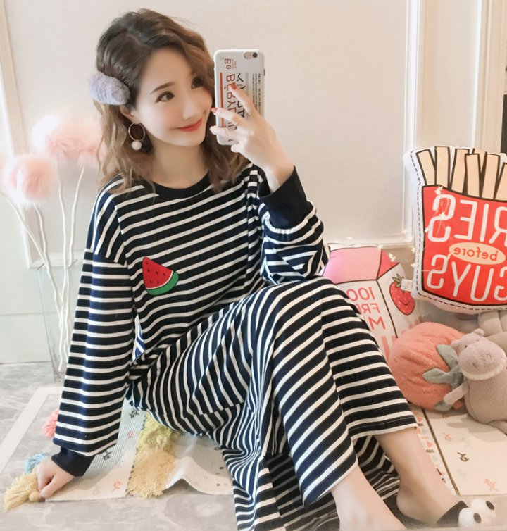 Homewear shorts conjoined night dress a set for women