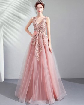 Sweet colors formal dress pink wedding dress
