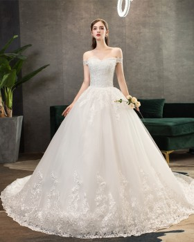 European style wedding dress