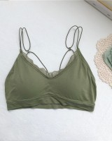 Lace bottoming tops small strap summer Bra for women