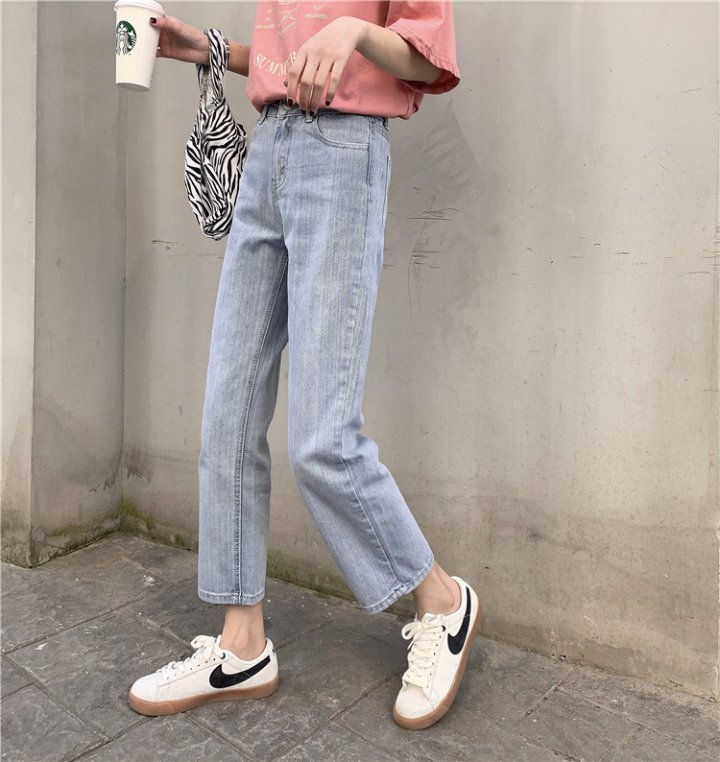 Straight pants loose simple jeans