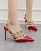 Pointed high-heeled shoes fine-root sandals for women