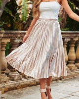 Chiffon slim pleated spring and summer skirt for women