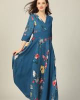 Ladies autumn bottoming long dress for women