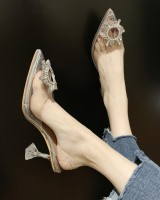 Pointed sexy sandals fashion high-heeled shoes