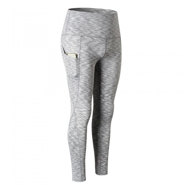 Wicking sports yoga pants pocket long pants for women