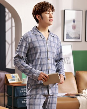 Autumn and winter wears outside pajamas 2pcs set for men