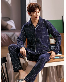 Homewear pure cotton Casual pajamas a set for men
