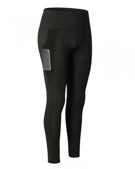 Wicking pocket yoga sports tight long pants for women