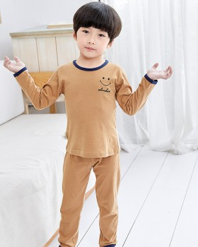 Child cotton spring homewear baby pajamas 2pcs set