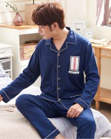 Homewear Casual autumn long sleeve boy pajamas 2pcs set
