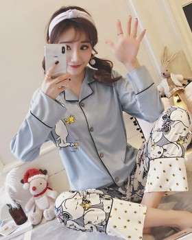 Milk silk homewear pajamas 2pcs set for women