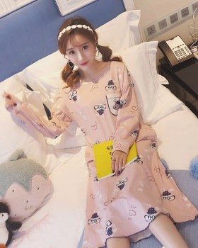 Milk silk night dress homewear pajamas a set