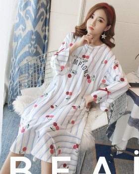 Milk silk pajamas night dress a set for women