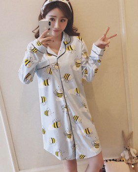 Homewear night dress milk silk pajamas a set