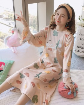 Homewear night dress milk silk pajamas a set for women