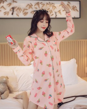 Cotton pajamas homewear night dress a set for women