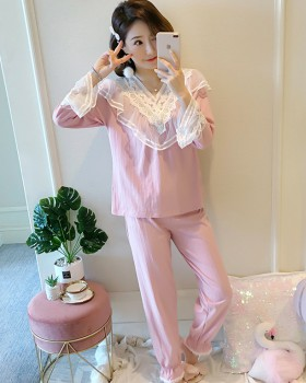 Autumn and winter homewear pajamas 2pcs set for women