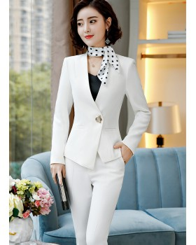 Overalls white long sleeve business suit a set for women