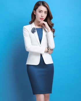 Fashion coat package hip dress a set