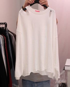 Korean style strapless bottoming shirt pure T-shirt