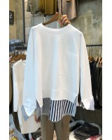 Splice tops spring and autumn hoodie for women