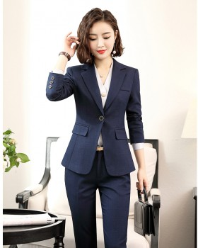 Business safe gray Korean style business suit a set