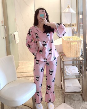 Cotton autumn and winter pajamas 2pcs set for women
