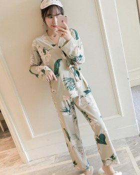 Autumn and winter pajamas kimono 2pcs set for women