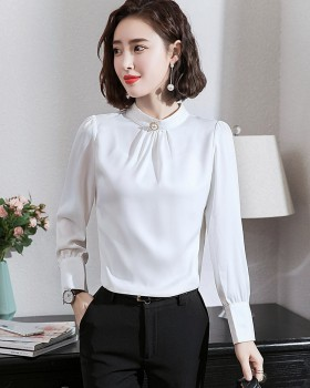 Chiffon overalls tops temperament long sleeve shirt